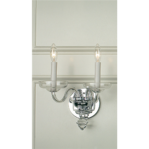 Crowder Designs Clear Sconce Collection | 2 Arm