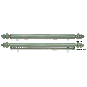 "Crowder Designs Double Track Traversing Rod   Optional 1 3/8"" Facia, Center Draw"