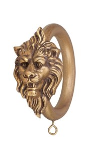 Crowder Designs Drapery Ring Collection   Lion Head Décor Ring