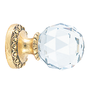 Crowder Designs Crystal Finial Collection   Crystal Medium Faceted