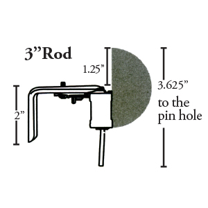 "Crowder Designs Traversing Rod   3"" Rod Measurement"