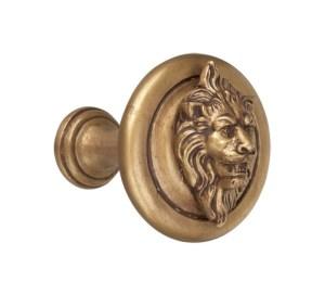Crowder Designs Tie Back Collection   Short Stem Lion Head