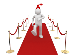 A Plus Walking the Red Carpet