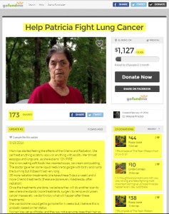 Help Patricia Fight Lung Cancer