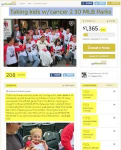 Greg Durfee Taking kids w/cancer 2 30 MLB Parks