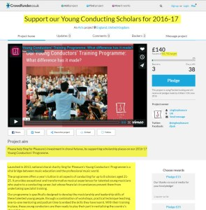 Caroline Sindall Support our Young Conducting Scholars for 2016-17