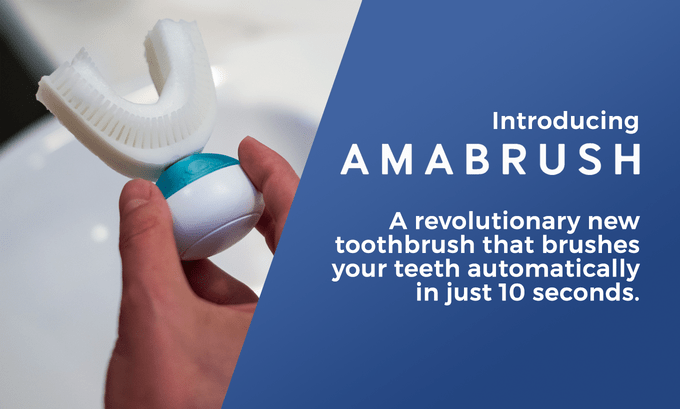 Amabrush's Innovative Ten-Second Toothbrush is Cleaning Up on Its Dental Health Crowdfunding Campaign; Raising €910,113 So Far from over 7,919 Kickstarter Backers