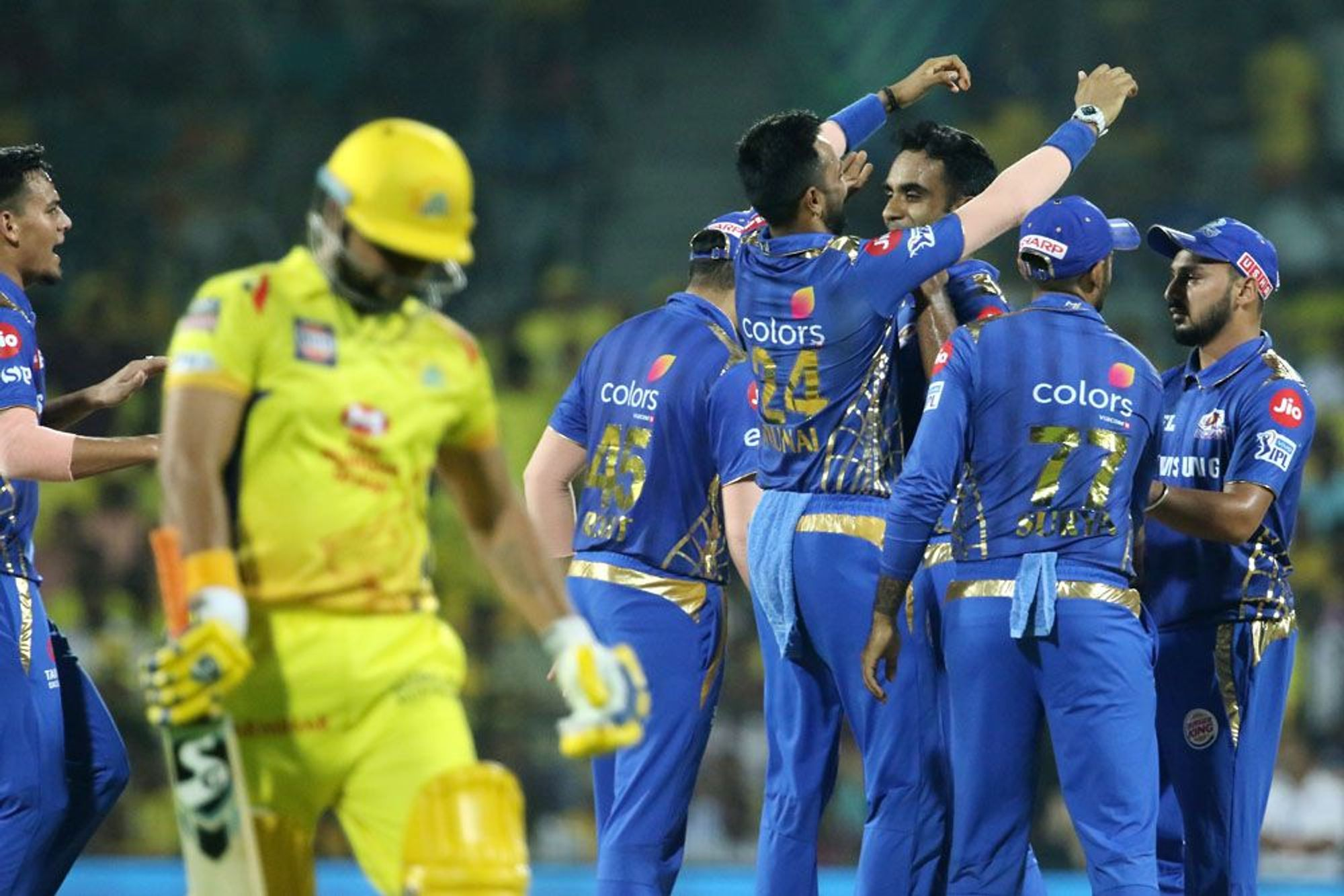 How much will Mumbai Indians score against CSK in the 2019 final?