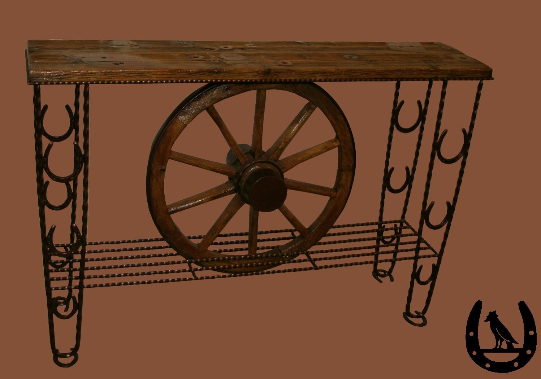 Crow S Western Furniture Handmade Wagon Wheel Furniture