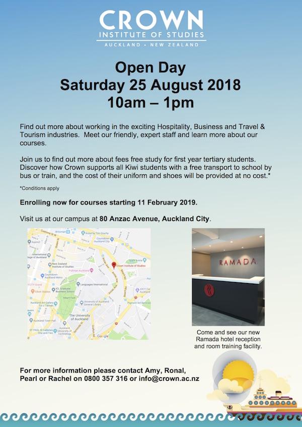 Crown Open Day Saturday 25 August 2018,jpg