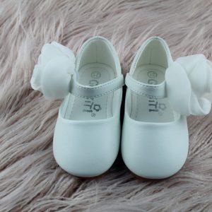 White Flower Girl Shoes
