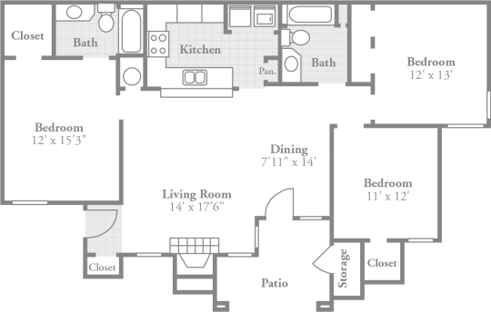 Crowne Oaks Apartments Winston M Nc Offers An Extra Ious Three Bedroom Floor Plan With Intimate Dining Room Large Inviting Living