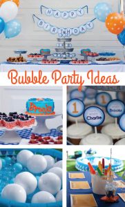 Bubble Birthday Party Ideas A 1st Birthday Crowning Details