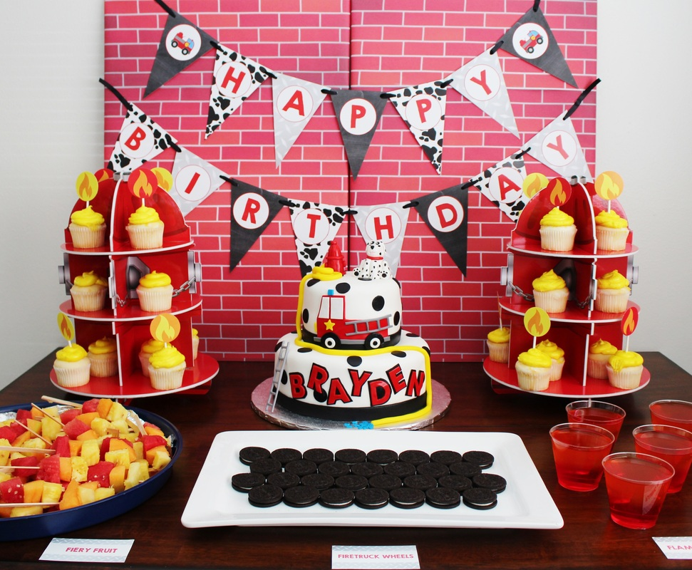 Fireman Birthday Party Ideas Crowning Details