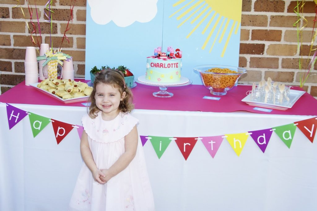 Charlotte S Peppa Pig Birthday Party A Hot Air Balloon Episode Crowning Details