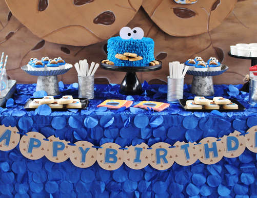 Cookie Monster Party Ideas Crowning Details