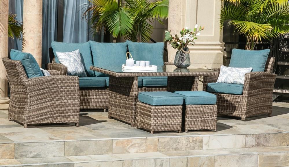 melrose deep seating patio set crown