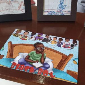 Black Boy Puzzle – 60 piece – Front Cover