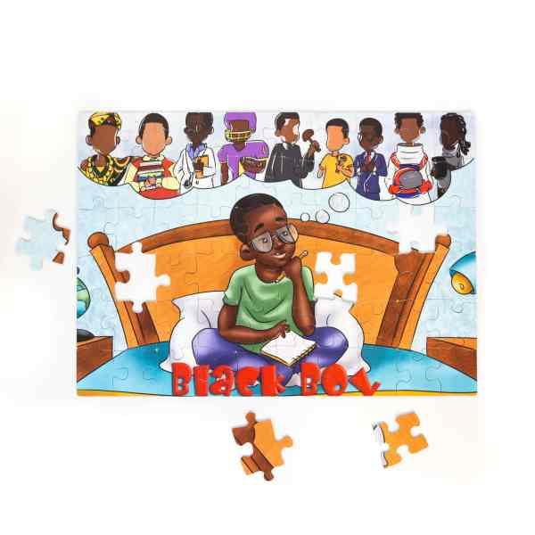 Black Boy puzzle Black Boy Merch