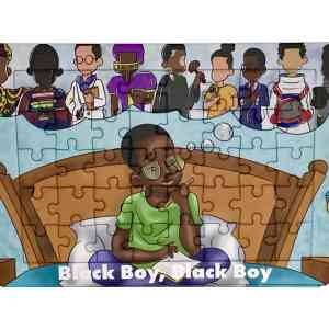 Black Boy, Black Boy – Back Cover- 40 piece Jigsaw Puzzle
