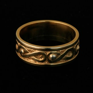Air Ring Wedding Band 14k Yellow