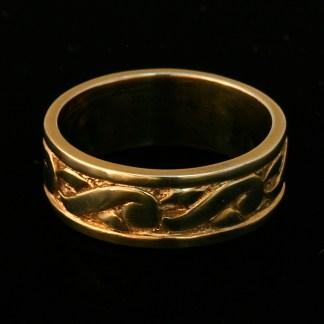 Earth Ring Wedding Band 14k Yellow
