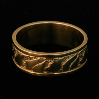 Fire Ring Wedding Band 14k Yellow