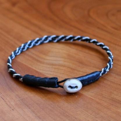 Mini Pewter Thread Bracelet black