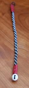 Mini Pewter Thread Bracelet red