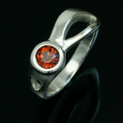 Garnet Two Rivers Ring. Crown Trout Jewelers