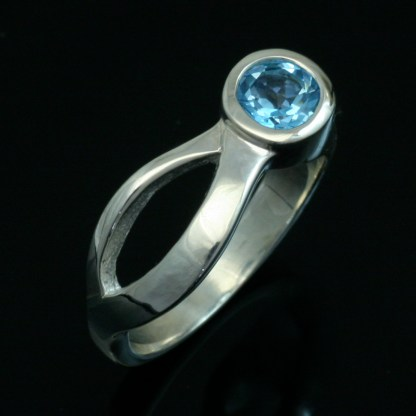 Blue Topaz Two Rivers Ring. Crown Trout Jewelers