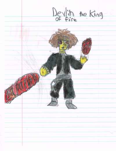 evil Fire wizard drawing
