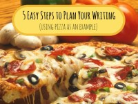 blog title image on writing planning with pizza