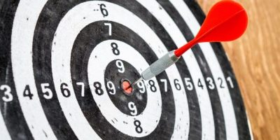 bulls eye target achieving goals