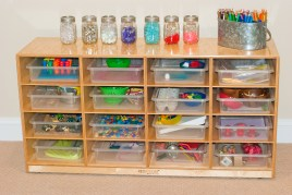 how we store our learning trays!