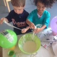 fun and messy paper mache!