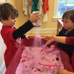 pink sand and Valentine's treasures