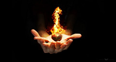 magic fire hand photo