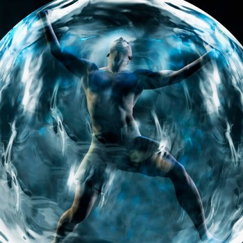 man in forcefield