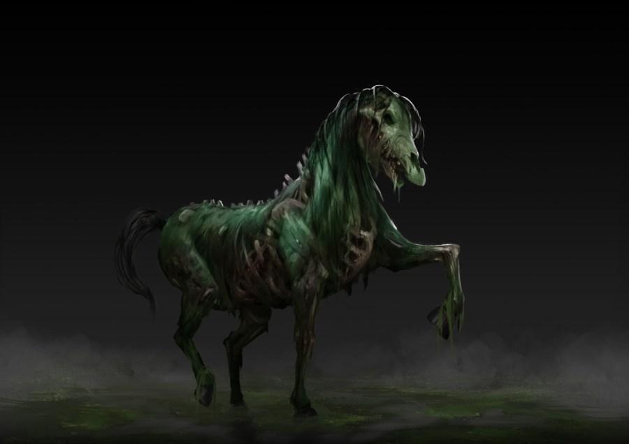 one zombie horse courtesy of necromancy