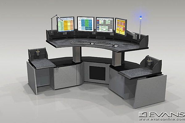 Dispatch console with sit stand capability