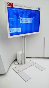 Social Media Display monitor for a large event