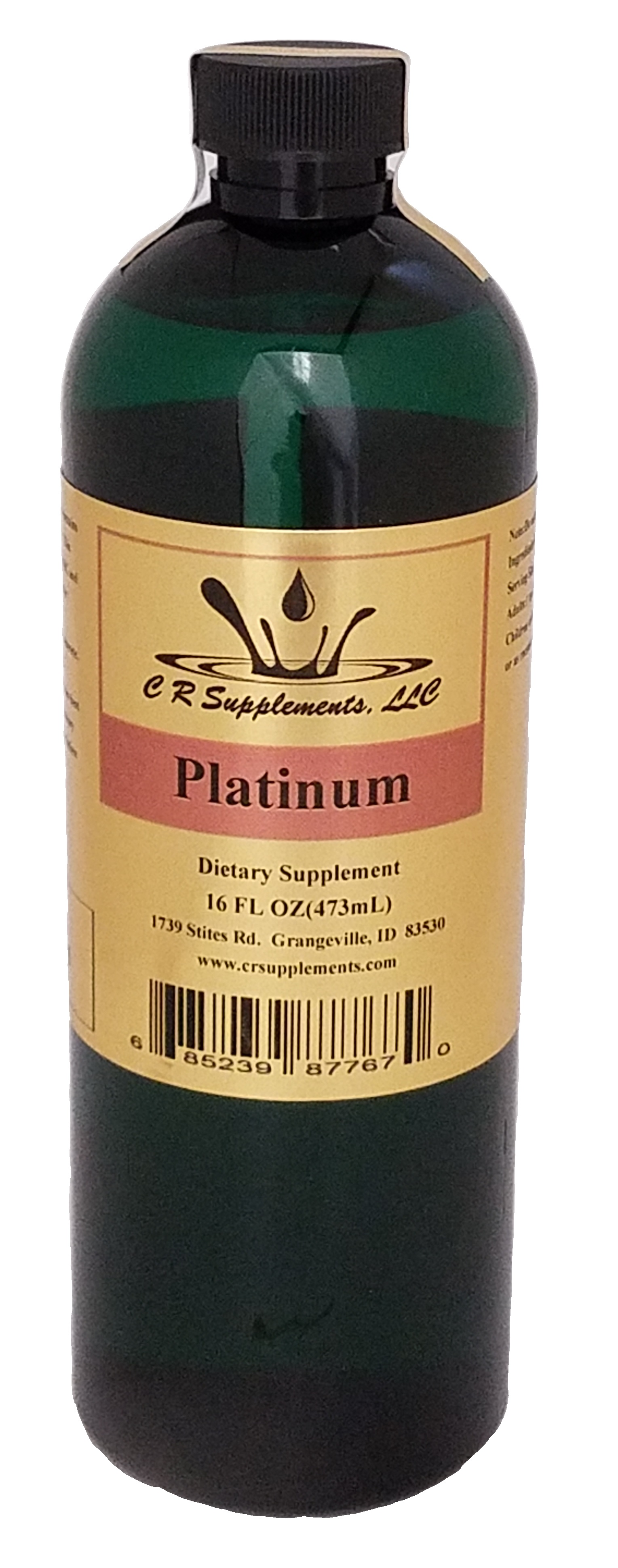 Platinum Dietary Supplement, Platinum, WaterOz Platinum Replacement, Liquid dietary supplement, Kosher of America approved, KOA approved, Pareve, vegan application, elemental mineral, flexible liquid mineral, maximum absorption