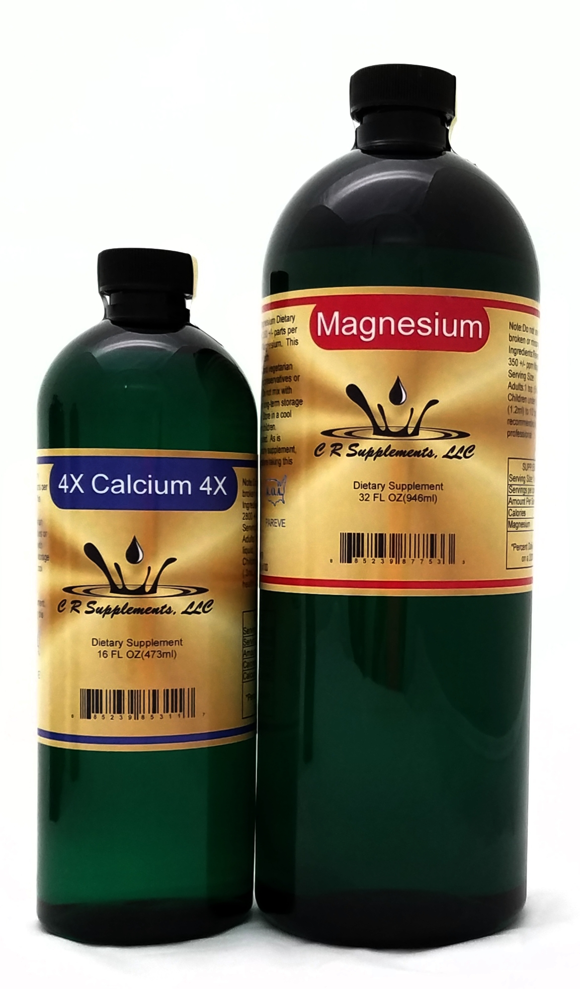 Magnesium Reg Quart / Calcium 4X Pint Dietary Supplement Pack