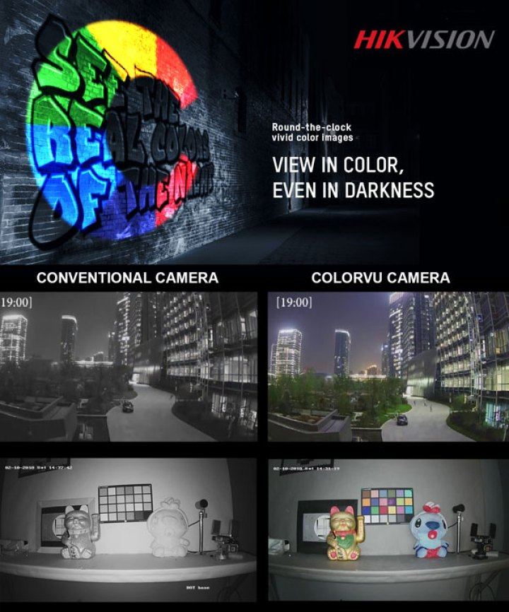 View vivid colour images - even in darkness