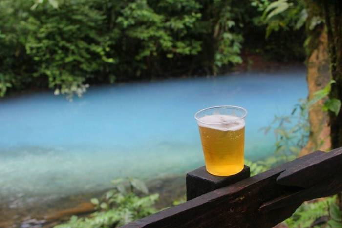 Rio Celeste and an Imperial beer