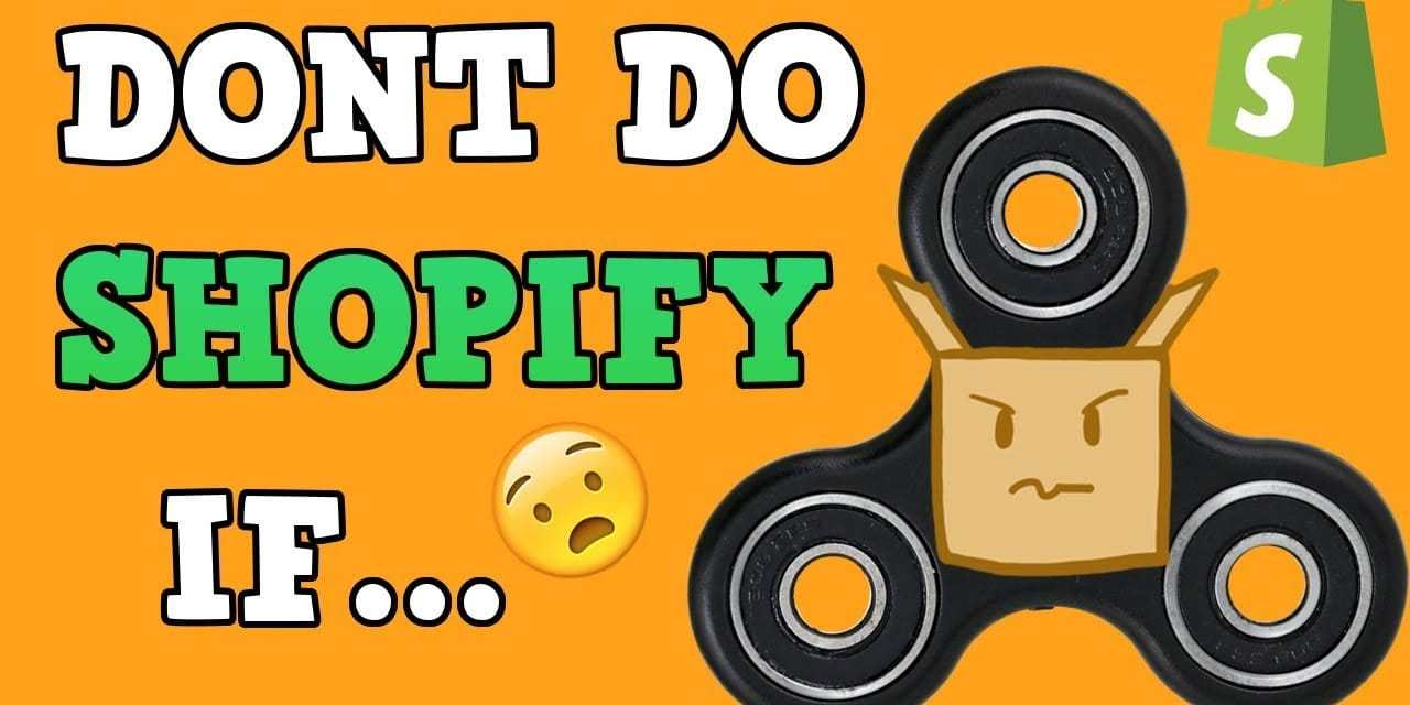 WHY YOU SHOULD NOT DO SHOPIFY