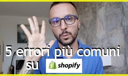Se vuoi iniziare Shopify NON fare questi errori!