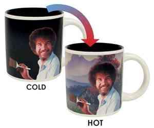 Bob Ross cold to hot magic mug
