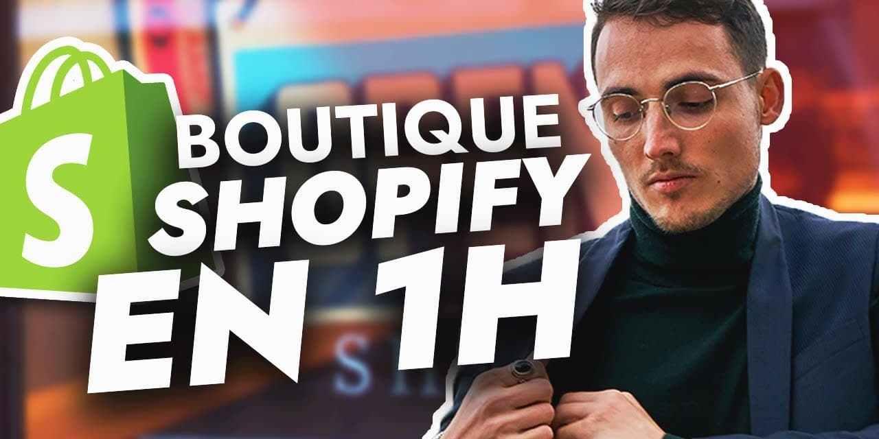 J'essaie de créer une Boutique Shopify en MOINS D'UNE HEURE (Dropshipping)